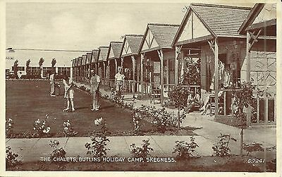 BUTLINS HOLIDAY CAMP SKEGNESS THE CHALETS 1930s-40s G.7241 PC