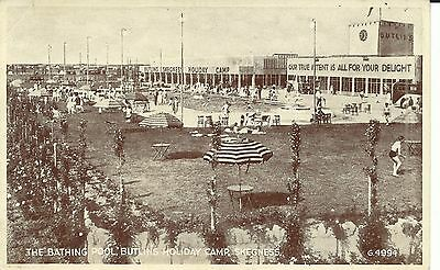 BUTLINS HOLIDAY CAMP SKEGNESS THE BATHING POOL 1940s-50s G.4994  PC