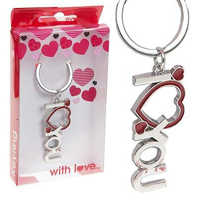 """""""I Love You"""" with Heart Key Ring - Valentine's Day / Birthday Gift"""