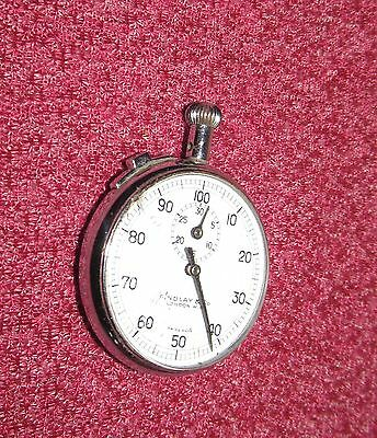 Super quality vintage chrome cased Swiss made Stopwatch. Findlay & Co London.