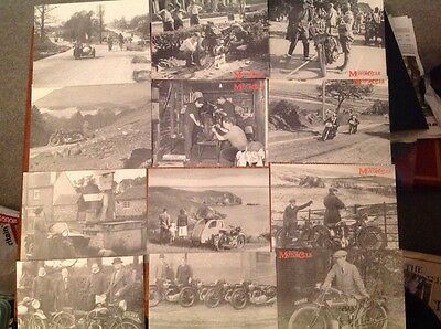 Vintage Black And White Motorcycle Postcards X 12