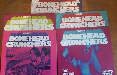 Bonehead Crunchers  -The Complete Set !!!!  Vol 1-5 Rare Heavy Psych FUZZ Comps