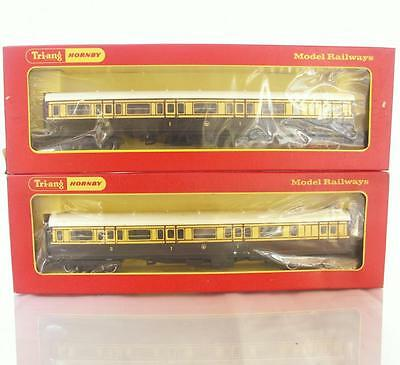 TRIANG HORNBY R26 R27 OO GAUGE RAILWAYS - GWR Ex.CALEDONIAN BRAKE & COMP COACHES