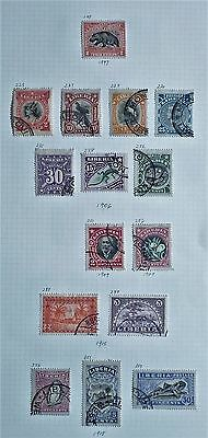 Liberia - Page of 15 x Early Issues - 1897 to 1918