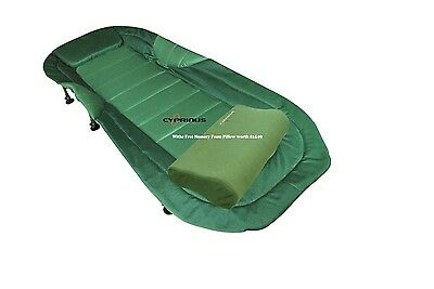 Supreme Carp Fishing Bed Chair Bedchair & FREE Memory Foam Pillow worth �24.99