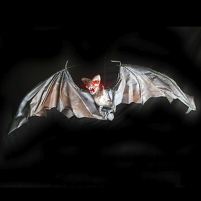 """Lighted Vampire Bat Flying Halloween Party Decoration Haunted House LG Prop 42"""""""