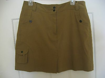 Jamie Sadock Golf Skirt Skort Shorts Size 12 Olive Army Green Khaki