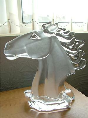 HORSE HEAD Embossed Solid Glass Animal Ornament