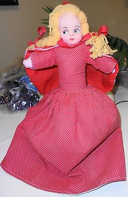 Vintage Topsy Turvy Reversible Doll - Red Riding Hood & Granny & Wolf