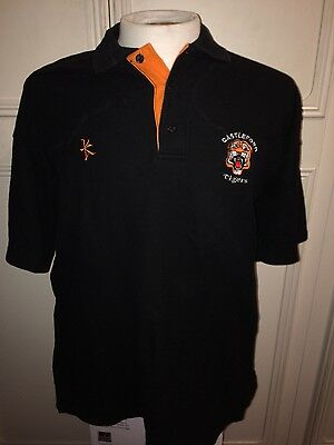 """Castleford Tigers Rugby League Kukri Polo Shirt 46"""" Chest Large Top"""