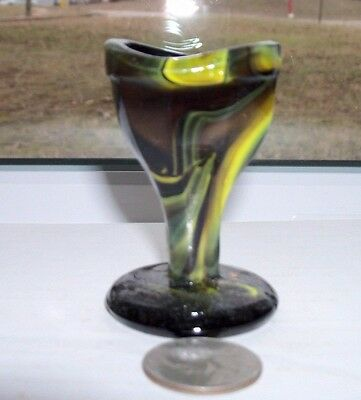 VINTAGE EYE CUP with BLACKGLASS & YELLOW MIX