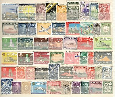 Netherlands Antilles - 53 Stamps - Mint And Used