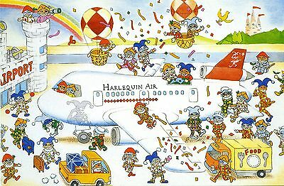Harlequin Air - Airline Issue Promotional Postcard