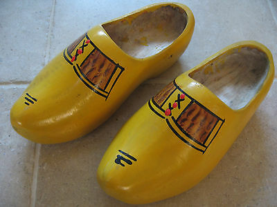 Vintage Dutch Cloggs Shoes Wooden Traditional VGC
