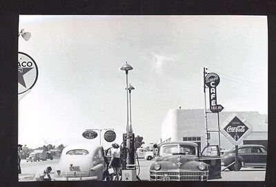 Real Photo Albuquerque New Mexico Gas Station Cars Postcard Copy Route 66