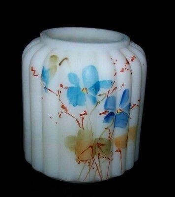 Awesome Mt. Washington Ribbed Pillar Toothpick Holder - Blue Floral