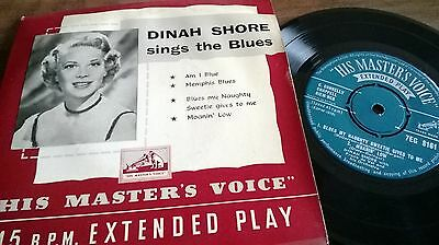 Dinah Shore - Sings The Blues Ep Hmv