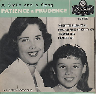 """PATIENCE & PRUDENCE - A Smile & A Song [EP 45 RPM 7"""" ]"""