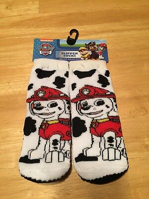 NEW WITH TAGS NICKELODEON PAW PATROL SLIPPER SOCKS GRIPPER SOLE Size 2t-4t