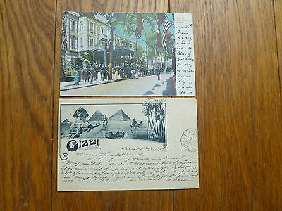 Egypt, Two Antique Postcards