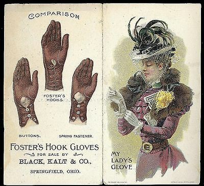 Adv. Pamphlet My Lady's Glove - Fosters' Hook Gloaves