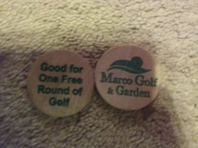 2 free tokens for free game of putt putt at Marco golf & garden Marco Island Fl.