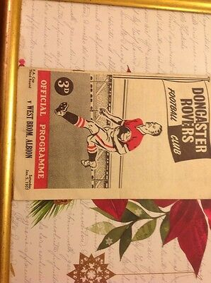 Football Programme Doncaster V West Bromwich Albion 1956/57 Fa Cup