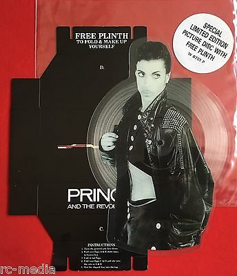 PRINCE -Kiss- Rare UK Shaped Picture Disc 45rpm NO BARCODE (Vinyl/Record)