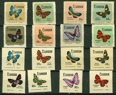 1970 Ecuador Insects Butterflies # 789-794 Mint Never Hinged $66.00