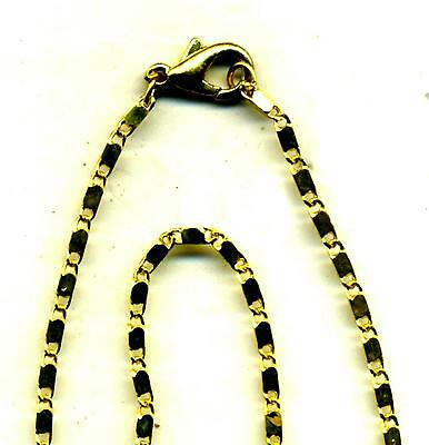 3 x  best quality 2 mm gold CHAINS  lapidary discount  SALE  400 mm long