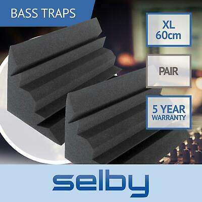 Pair of Large Bass Traps Sound Foam Acoustic Treatment Low Frequency Corner