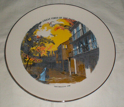 Great Fires Of The Past Plate #2- New Orleans 1788 - Firefighters