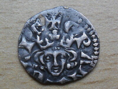 hammered silver farthing coin of Edward I class 3de Londoniensis detecting find