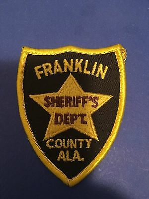 Franklin County Alabama  Sheriff Small Shoulder  Patch