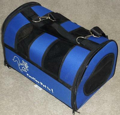 Small Mesh Pet Carrier ~ Opens At Both Ends ~ Sturdy Collapsible