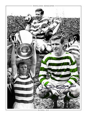 • HAND SIGNED 16x12 MONTAGE PHOTO CELTIC LEGEND BILLY McNEILL