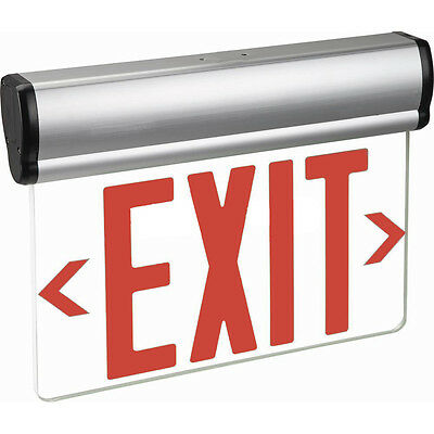Kaito GSEL-200SR LED Edge-Lit Rotatable Exit Sign with Battery Backup - Red