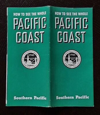 Southern Pacific Lines 1940 Four Routes to the Pacific Coast -SP -EXC