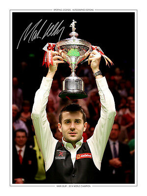 • HAND SIGNED 16x12 PHOTO EDITION SNOOKER 2014 MARK SELBY