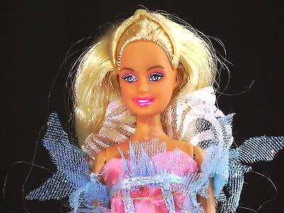Mini Kingdom Barbie Doll Swan Lake Princess Odette with Outfit Long Blonde Hair
