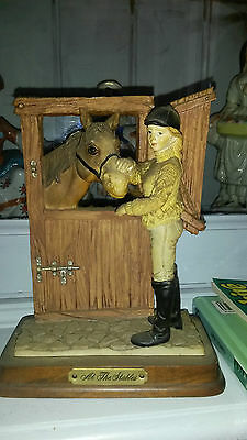 Horse and rider ornament. Lovely