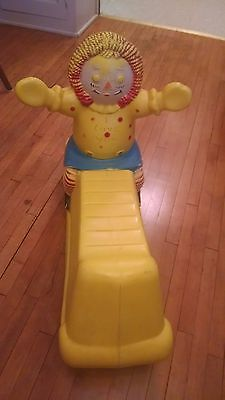 VINTAGE 1974 THE BOBBS-MERRILL CO RAGGEDY ANN & ANDY Rocking Horse Toy Plastic