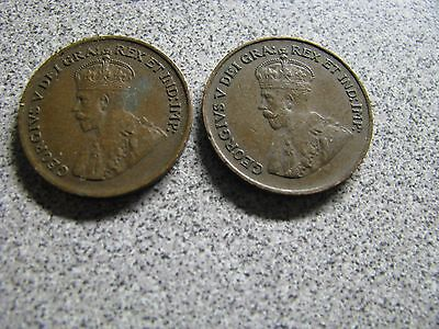 1928 & 1931 Canada One Cent - Canadian World Coins