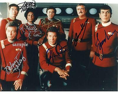 Star Trek Cast #2 Reprint Autographed Picture Photo Signed 8X10 William Shatner