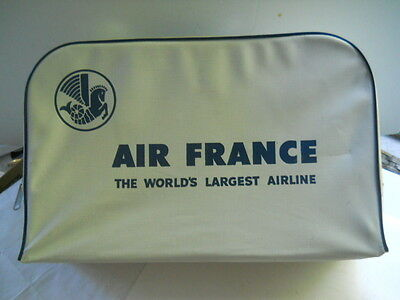 Vintage Air France Vinyl Carry On Suitcase by Bearse Manufacturing Co.