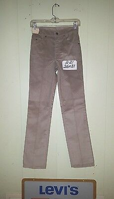 NWT 80'S LEVI'S 709 Straight Leg Corduroy Jeans 26 x 31 Beige Made in USA S-21