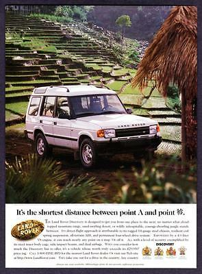 "1996 Land Rover Discovery photo ""Drive in Any Country"" vintage promo print ad"