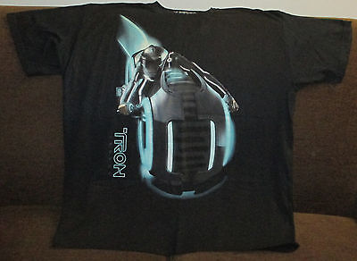 Tron Legacy~2010 Movie~Official Disney Promo T-Shirt~Xl, Never Worn~Light Cycle