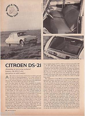 1966 Citroen DS-21 Road Test & Technical Data