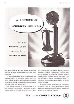"1934 Candlestick Telephone photo ""Operating a Public Service"" Bell System Ad"
